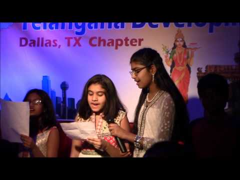Jaya Jaya He Telangana Janani Jaya Ketanam at TDF Dallas chapter meet and greet - Ruchi Jan 3rd 2015