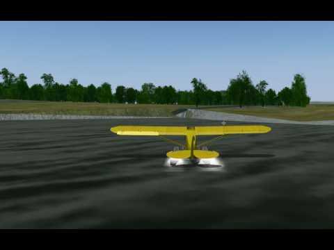 FlightGear's PA-18 Water Landing