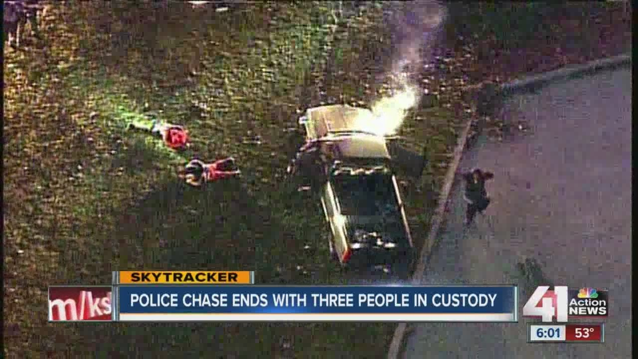 KCMO police chase vehicle on east side of city