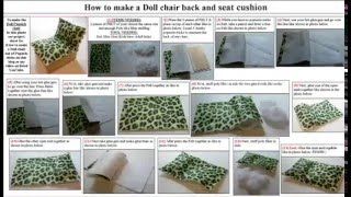 Easy Arts And Crafts: Chair Cushion For Doll Popsicle Sticks Chair