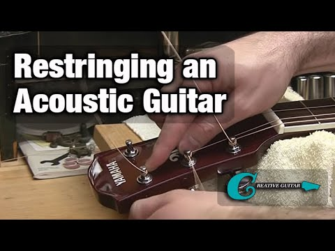 Restringing an Acoustic (Steel String) Guitar