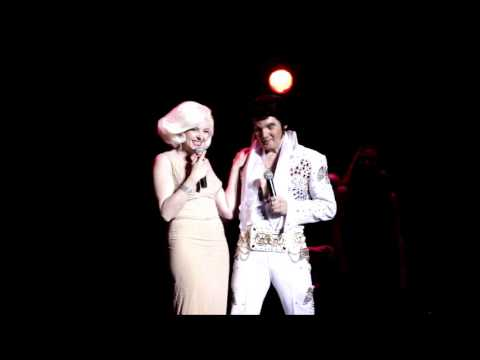 Tribute Artist  Lloyd Aron Douglas  and Holly Beavon performs Elvis and Marilyn