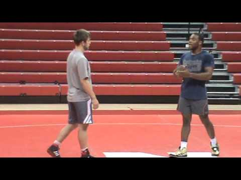 Nebraska Wrestling Coaches Clinic 2013 14 Jordan Burroughs technique 14 Double Leg attacks