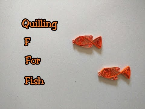 Papercraft How to Quill a Fish | Quilling A to Z with YellowMellowLife | F for Fish