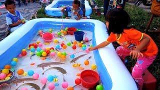 Download Lagu Tangkap ikan LELE Dikolam Pasar malam SERU dan LUCU, Lompat-lompat mp3