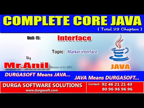 How to write custom marker interface in java