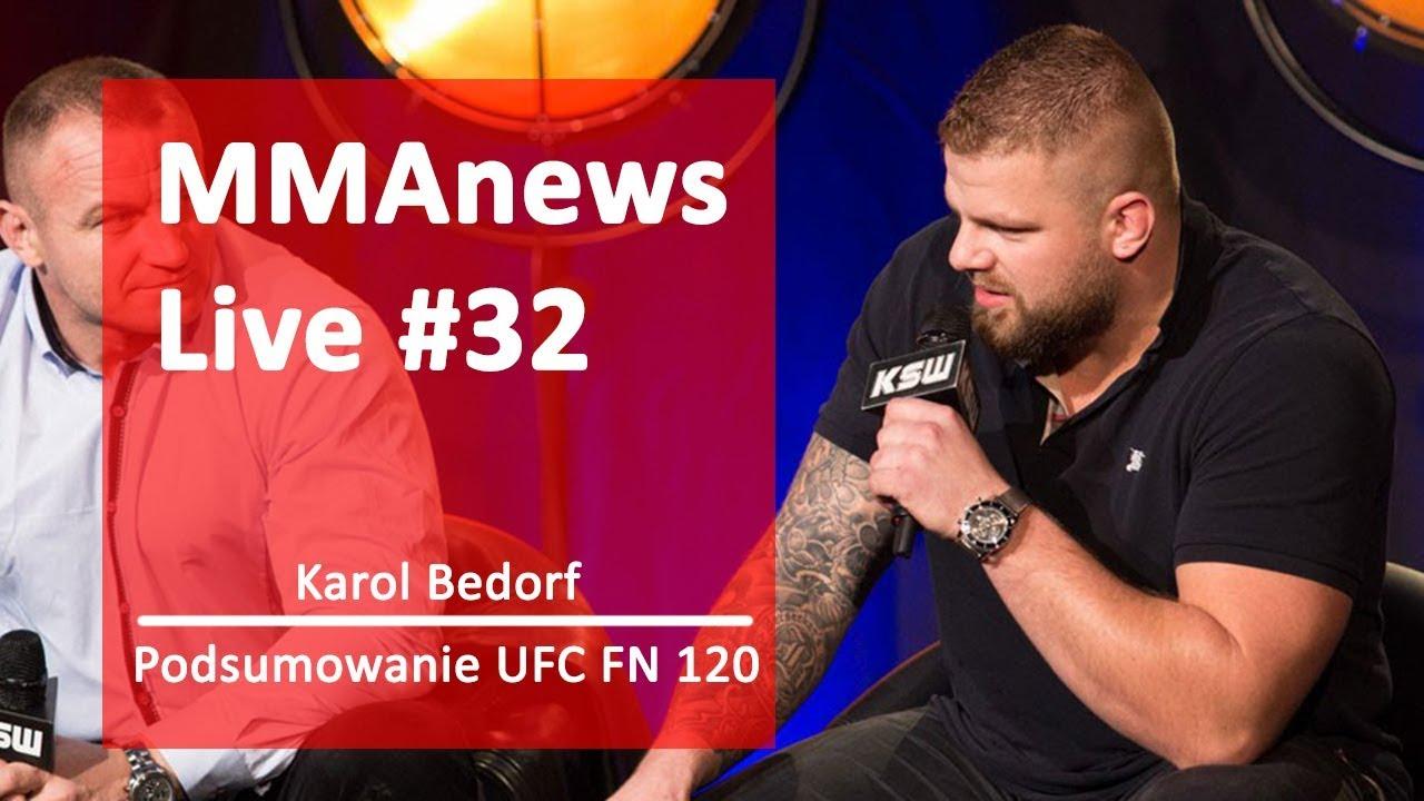 MMAnews Live #32: Karol Bedorf i Paweł Pawlak