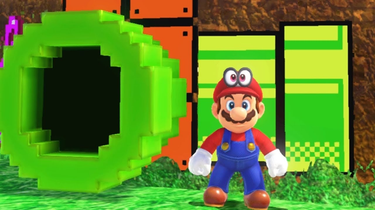 Super Mario Odyssey All 8 Bit Warp Pipe Locations 2d Mario Sections