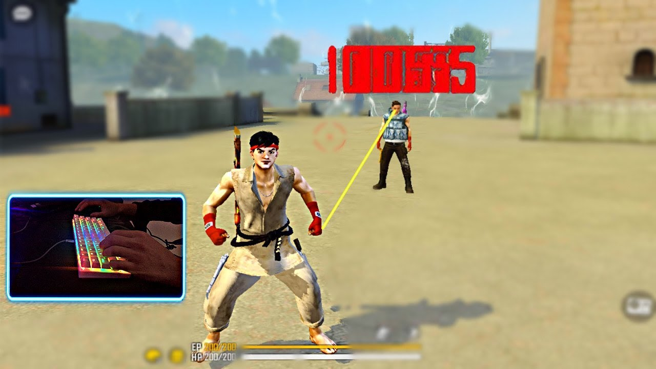 Handcam with Street Fighter Skin in Free Fire 👽⚡