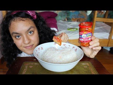 Eating Spicy Kimchi With Rice MUKBANG