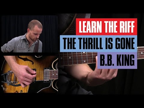 The Thrill is Gone Guitar Lesson - B.B. King | Guitar Lesson Tutorial