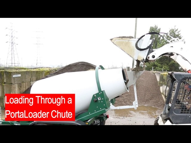 Portable Concrete Mixer Loading - PortaLoader System
