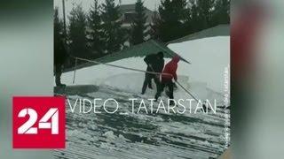 Прокуратура Татарстана проверит инцидент со школьниками на крыше - Россия 24