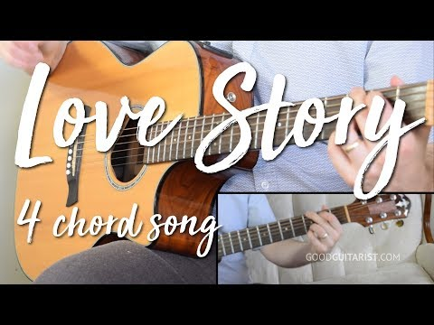 """Love Story"" Easy Guitar Tutorial (No Capo) 