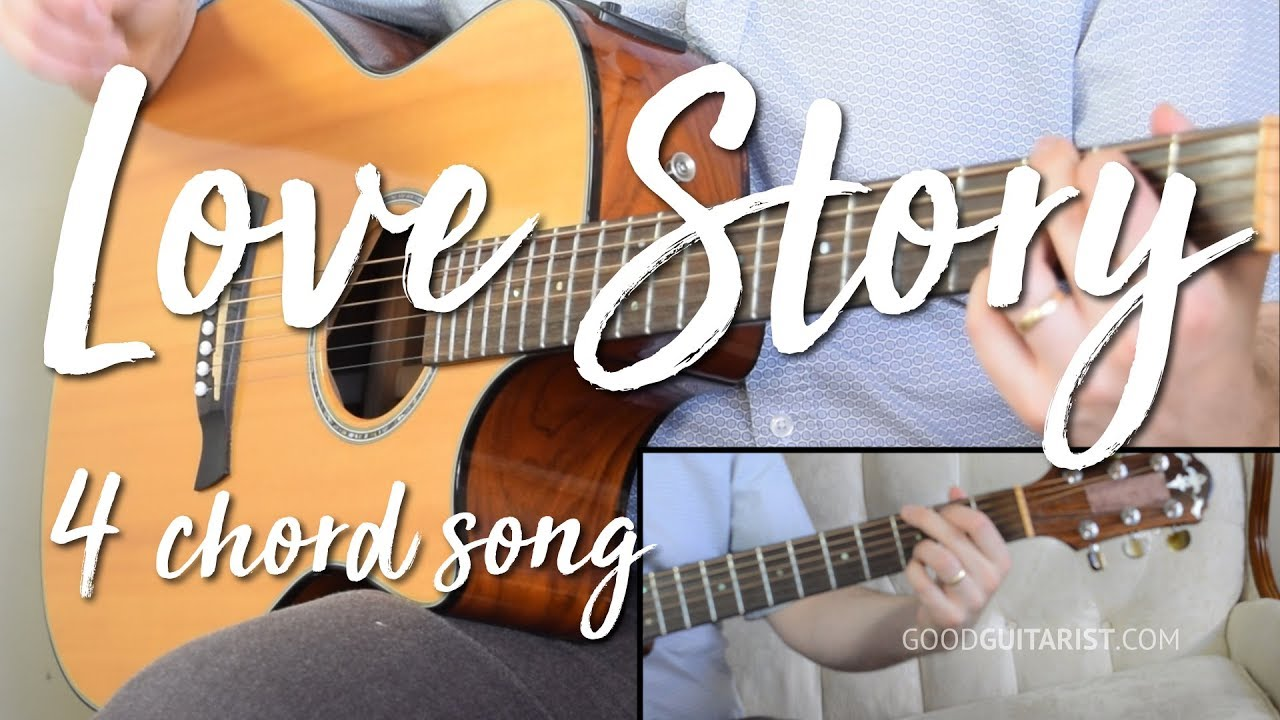 Love Story Easy Guitar Tutorial No Capo Taylor Swift Youtube