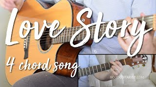 love-story-easy-guitar-tutorial-no-capo-taylor-swift