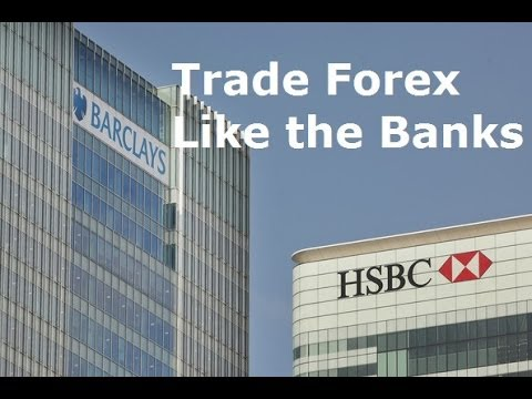How does banks trade forex
