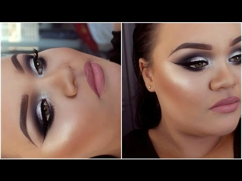 Black & Silver Smokey Eyes Tutorial