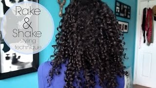 rake and shake styling technique for naturally defined curls