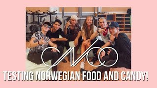 CNCO testing norwegian food and candy!!!