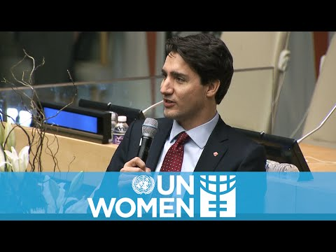 "Justin Trudeau tells the world why ""I'm a feminist"""