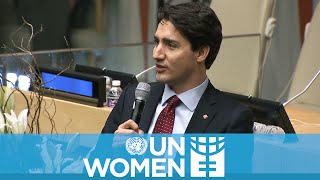 "Justin Trudeau tells the world why ""I'm a feminist"""