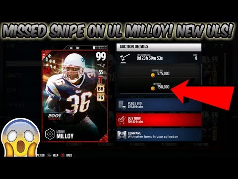 ULTIMATE LEGEND LAWYER MILLOY MISSED SNIPE! UL MILLOY AND DALLAS CLARK! | MADDEN 17 ULTIMATE TEAM