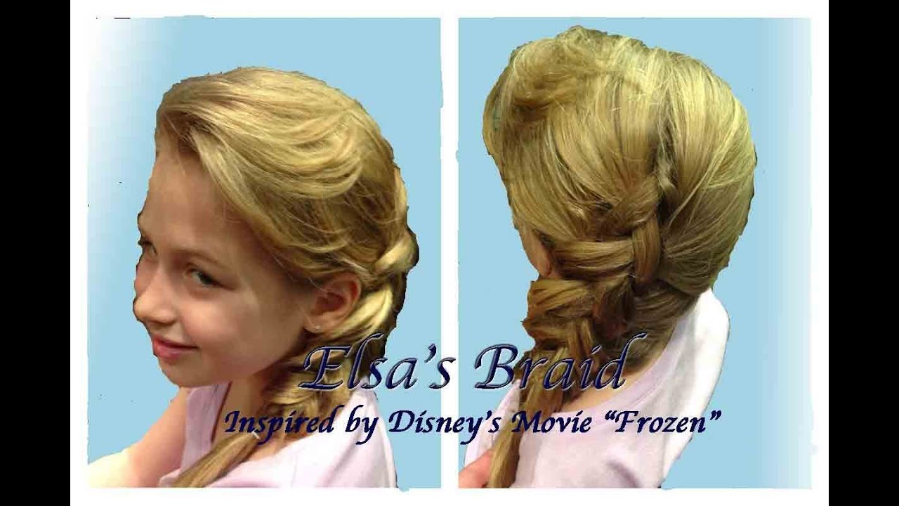 elsa hair styles quot elsa s braid hairstyle quot hair tutorial inspired by 7945