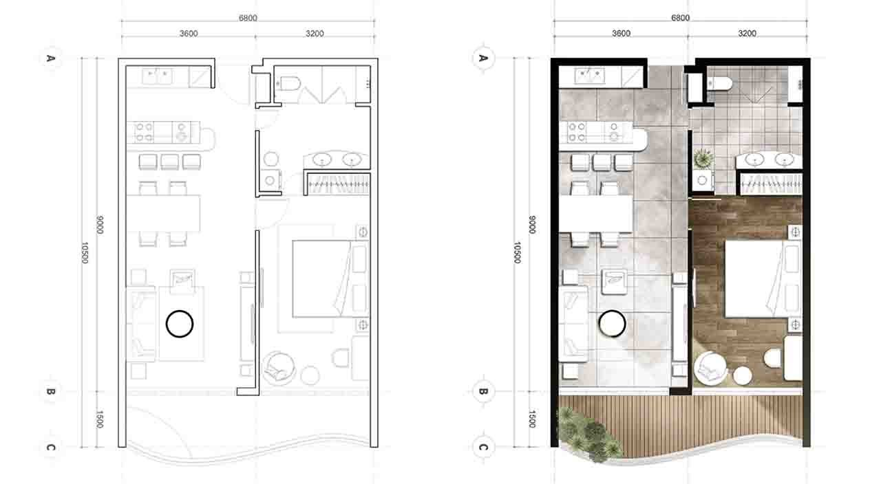 Rendering Architectural Floor Plan In Photoshop Youtube
