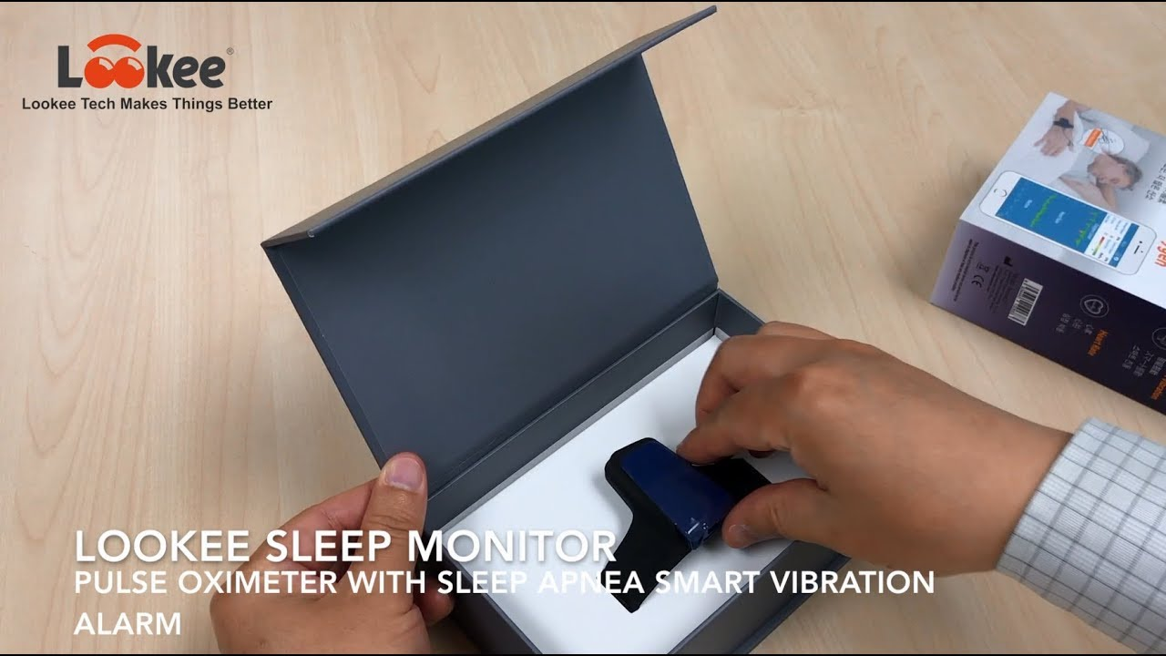 Lookee Sleep Monitor - Pulse Oximeter O2 Saturation Monitor with Sleep  Apnea Smart Vibration Alarm