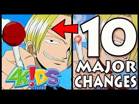 10 Ways 4Kids Changed One Piece CENSORSHIP IN ANIME