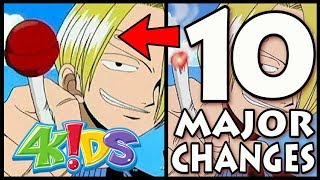 How did 4kids change one piece? in this video we look at 10 major changes that the dub made to piece; censored important elements t...