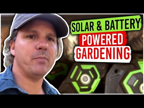 How I use Solar Power & Deep Cycle 12v Battery to Charge my Battery Powered Garden Tools