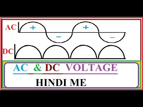 AC VS DC CURRENT IN HINDI !! WHAT IS DEFFERENCE BETWEEN AC & DC  VOLT.