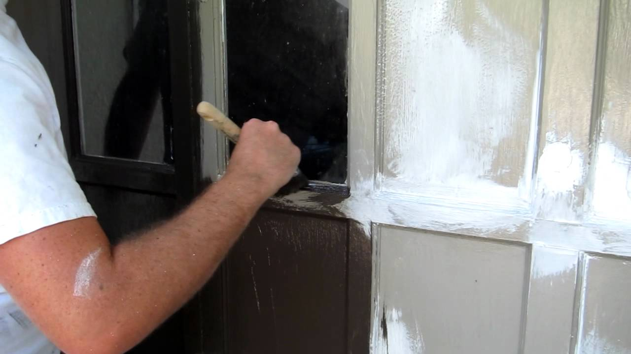 Brushing Benjamin Moore\'s Aura Exterior Paint - YouTube