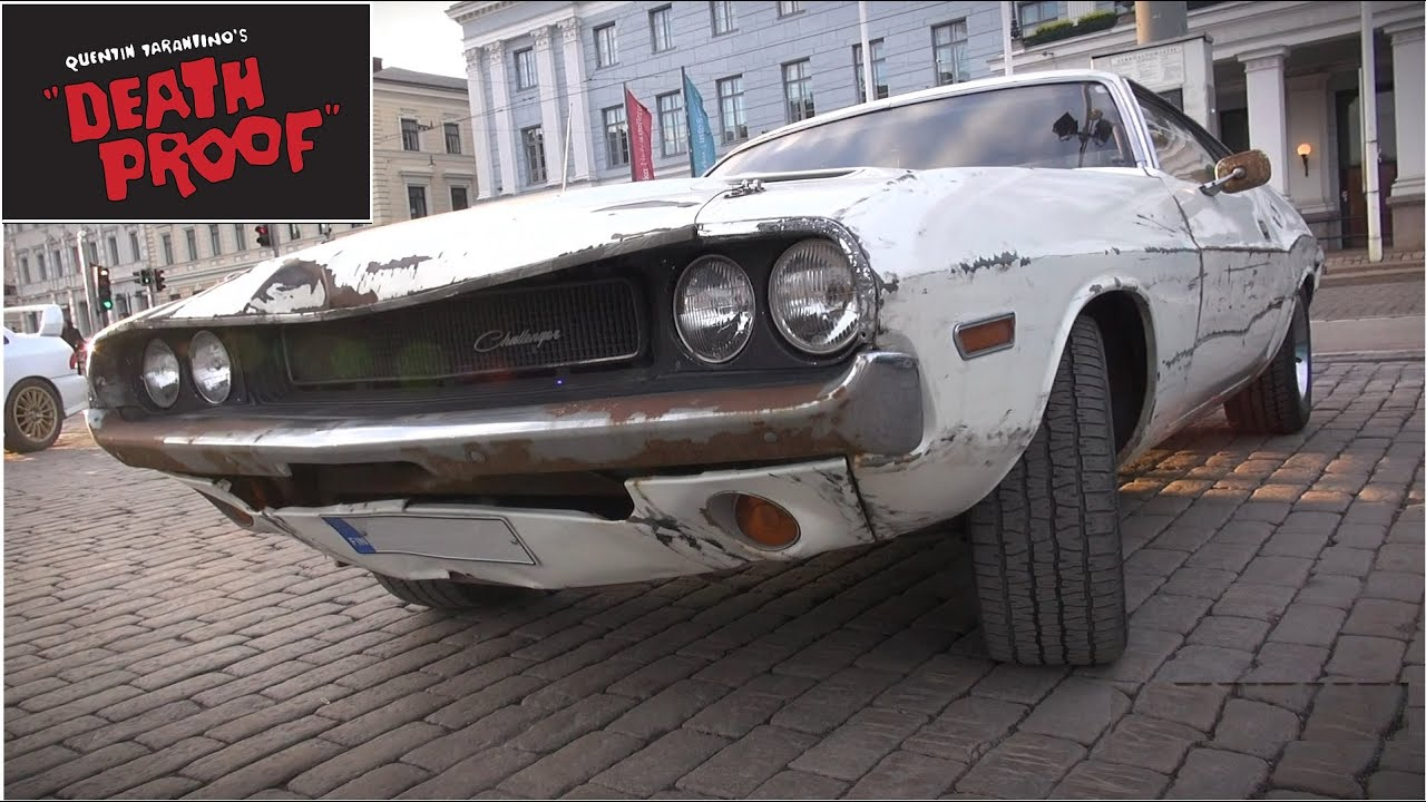 100 original dodge challenger from quentin tarantinos death proof sound driving