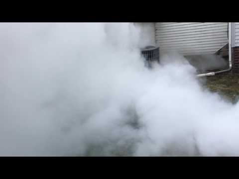CO2 fire extinguisher discharge