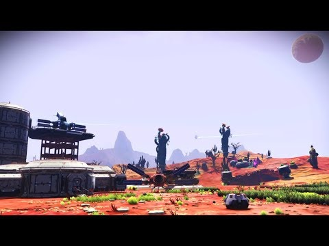 No Man's Sky - Longplay 22b Permadeath - Building my Mother Base Landing Platform + mining Waypoints