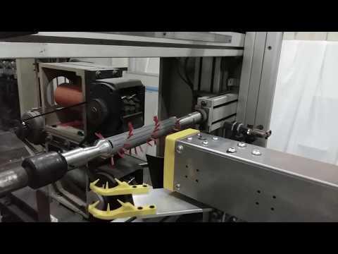 SCARA Robot Loading Parts To Trimming Machine