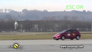 Euro NCAP | Toyota Auris | 2013 | ESC test