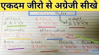 जीरो से English पढ़ना-लिखना सीखें, शुरू से by Aao sikhe aj