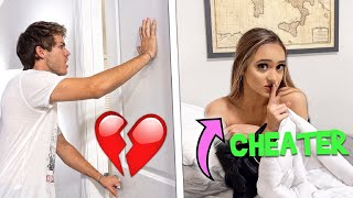 CHEATING WITH THE DOOR LOCKED PRANK ON BOYFRIEND! *HE HIT HIM*