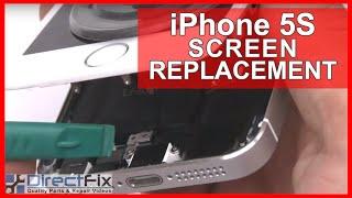 iphone 5s screen replacement repair shown in 10 minutes