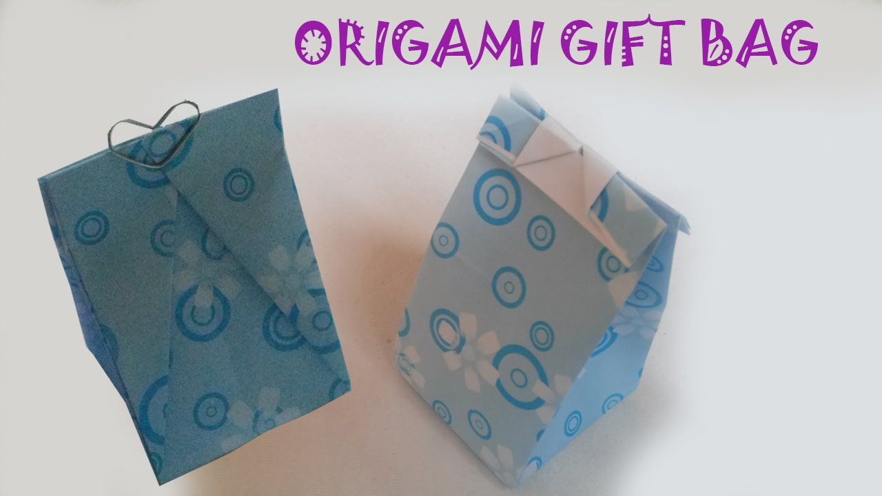 origami easy origami gift bag tutorial youtube