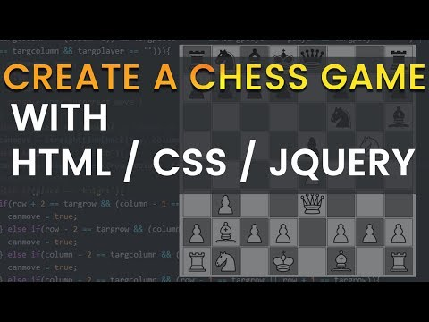 Create Chess Game With HTML / CSS / JQuery
