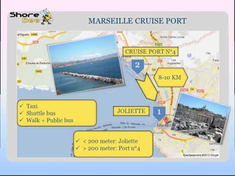 The Marseille cruise port