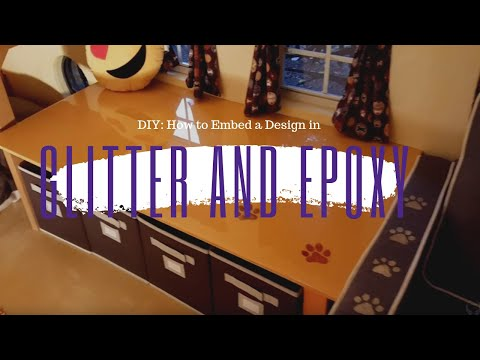 DIY: How to embed a design with Glitter and Epoxy