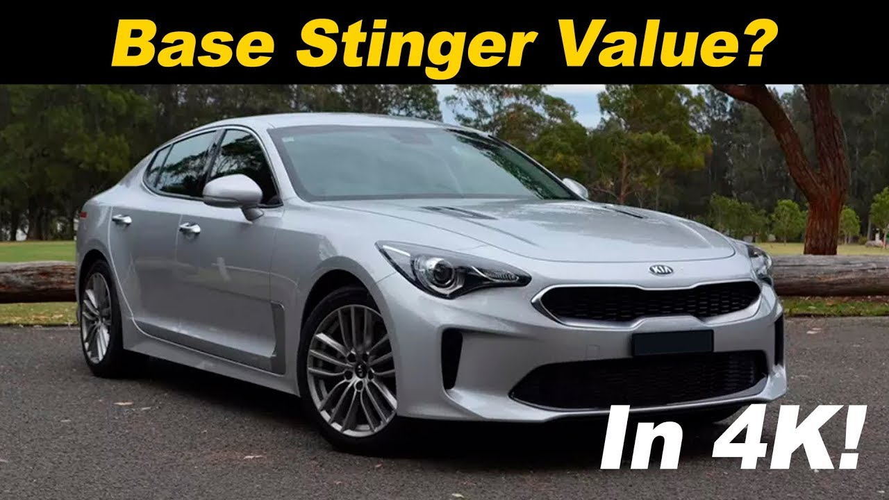 2018 Kia Stinger 2 0t Base Model First Drive Review Youtube