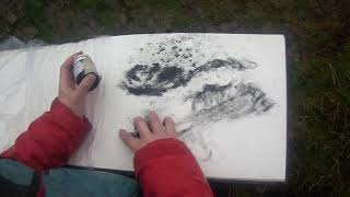Plein Air Drawing with artist Gayle Rogers