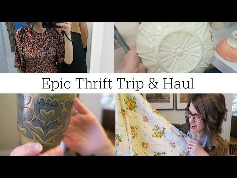 Thrift with Me + Thrift Haul | Salvation Army & Value Village | Vintage Home Decor